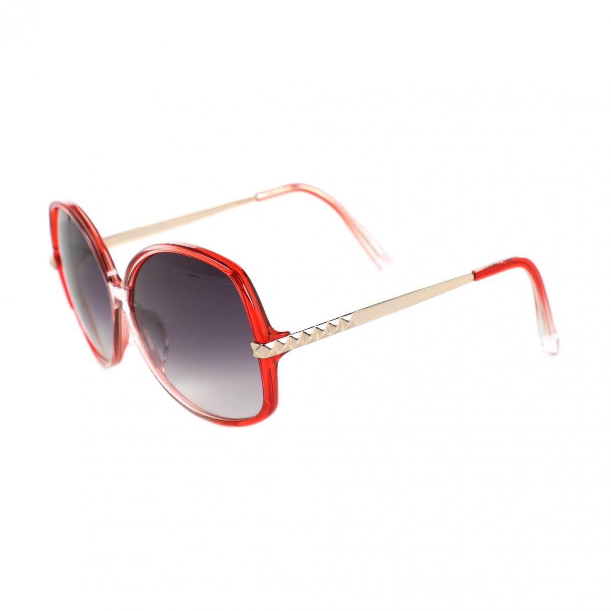 297c49e12a4a Linda Farrow - Red Oversized Sunglasses - Lyst. View fullscreen