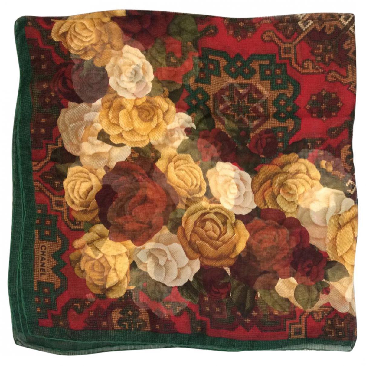 f90995e2b959 Chanel Pre-owned Vintage Burgundy Silk Scarves - Lyst