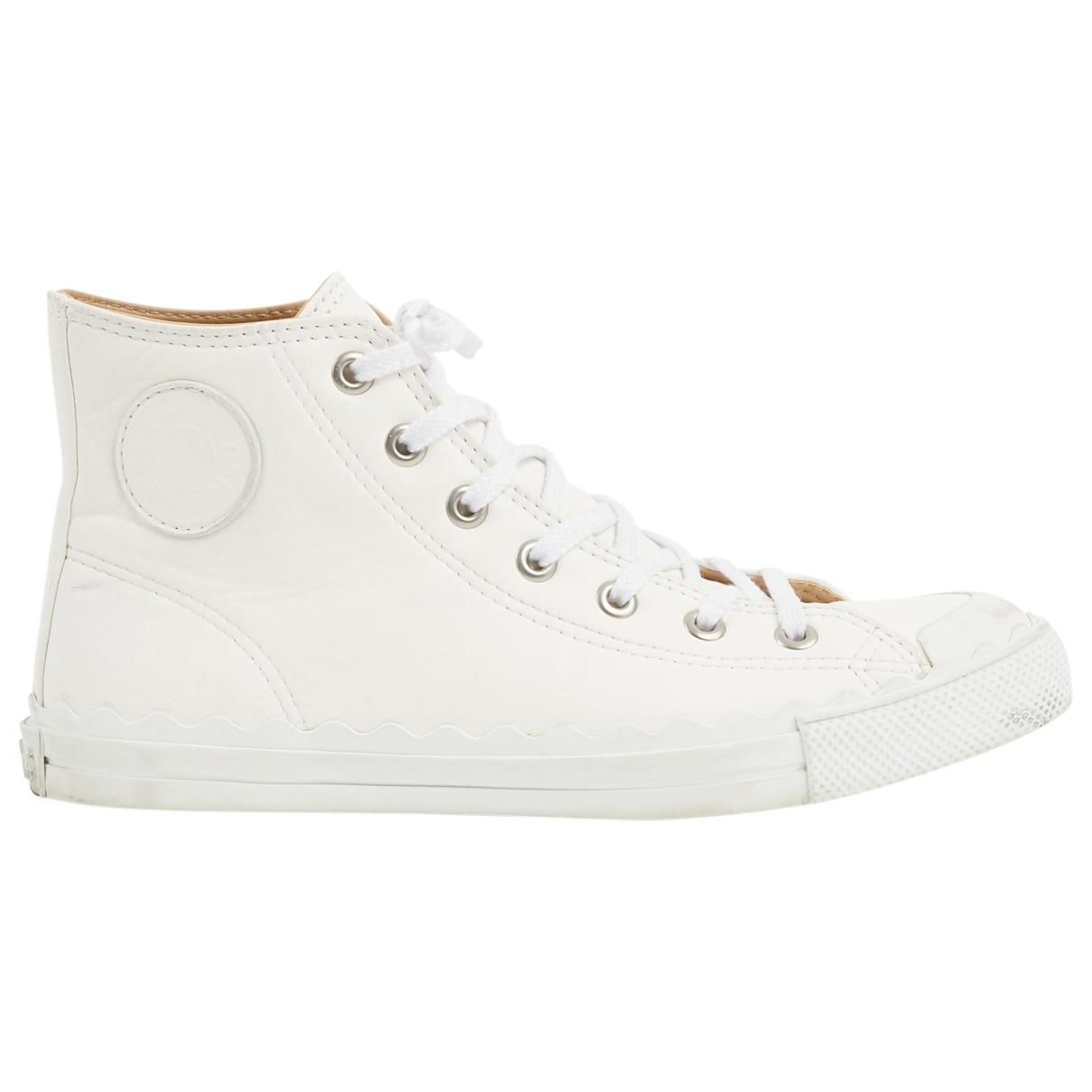Pre-owned - Leather trainers Chloé nXDnz3