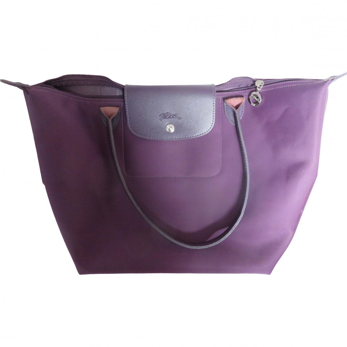 Toile En Toile En Violet Toile Sac Sac Sac Longchamps En Longchamps Violet fOOXRUq