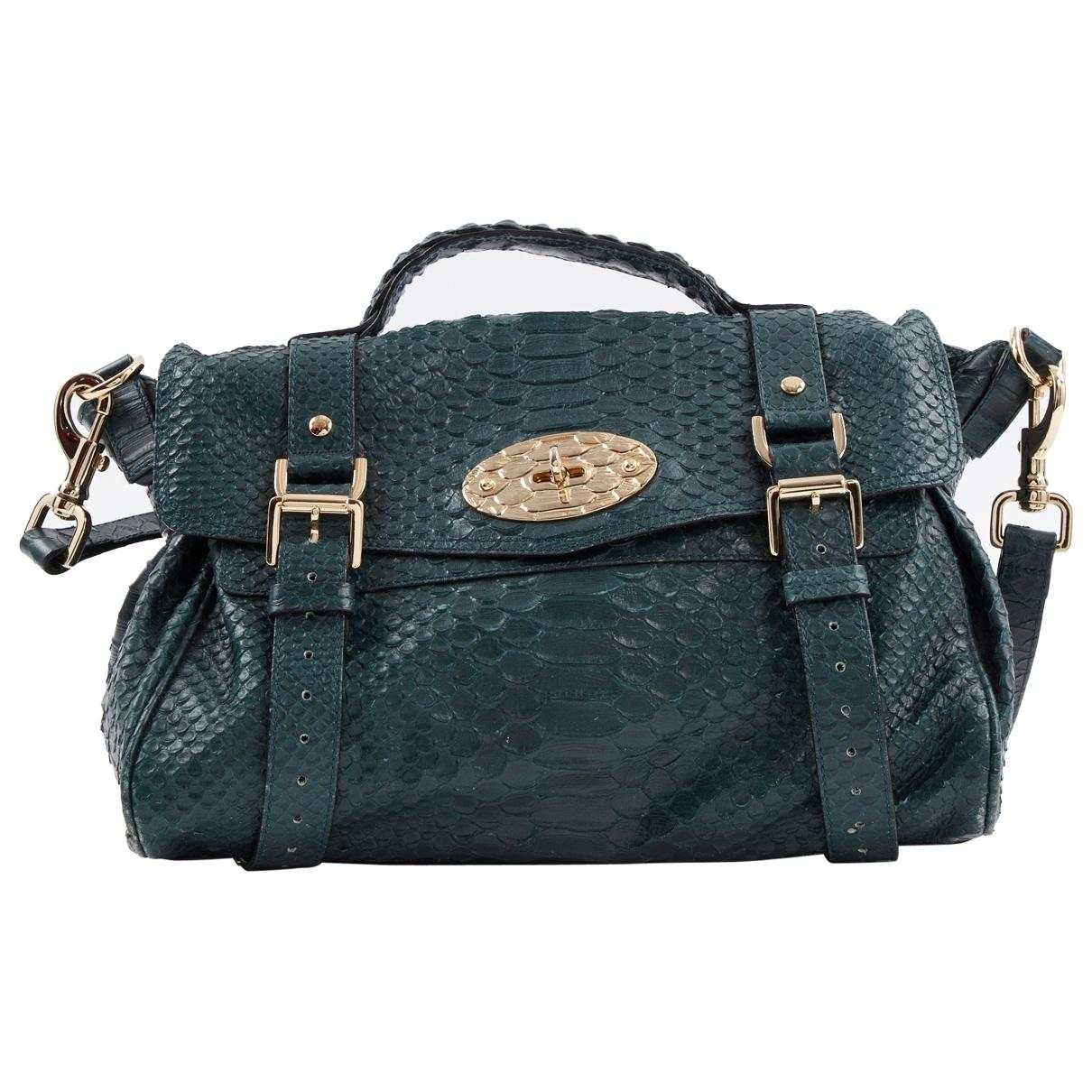 97cb2ad4f54f Mulberry. Women s Pre-owned Alexa Green Leather Handbags.  719  596 From Vestiaire  Collective