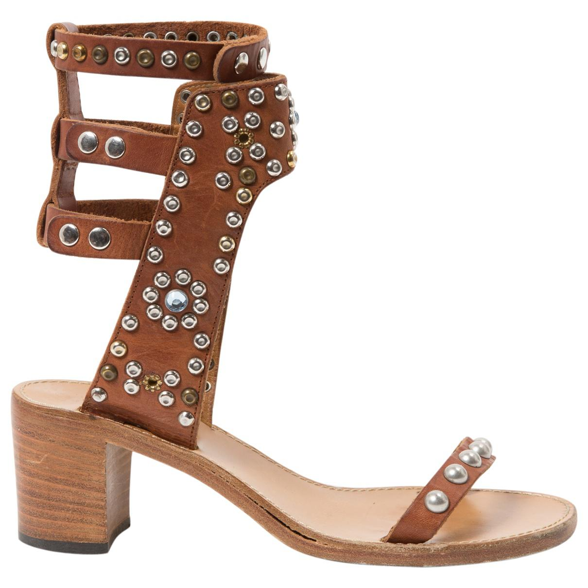e524dd97034 Lyst - Isabel Marant Caroll Leather Sandals in Brown