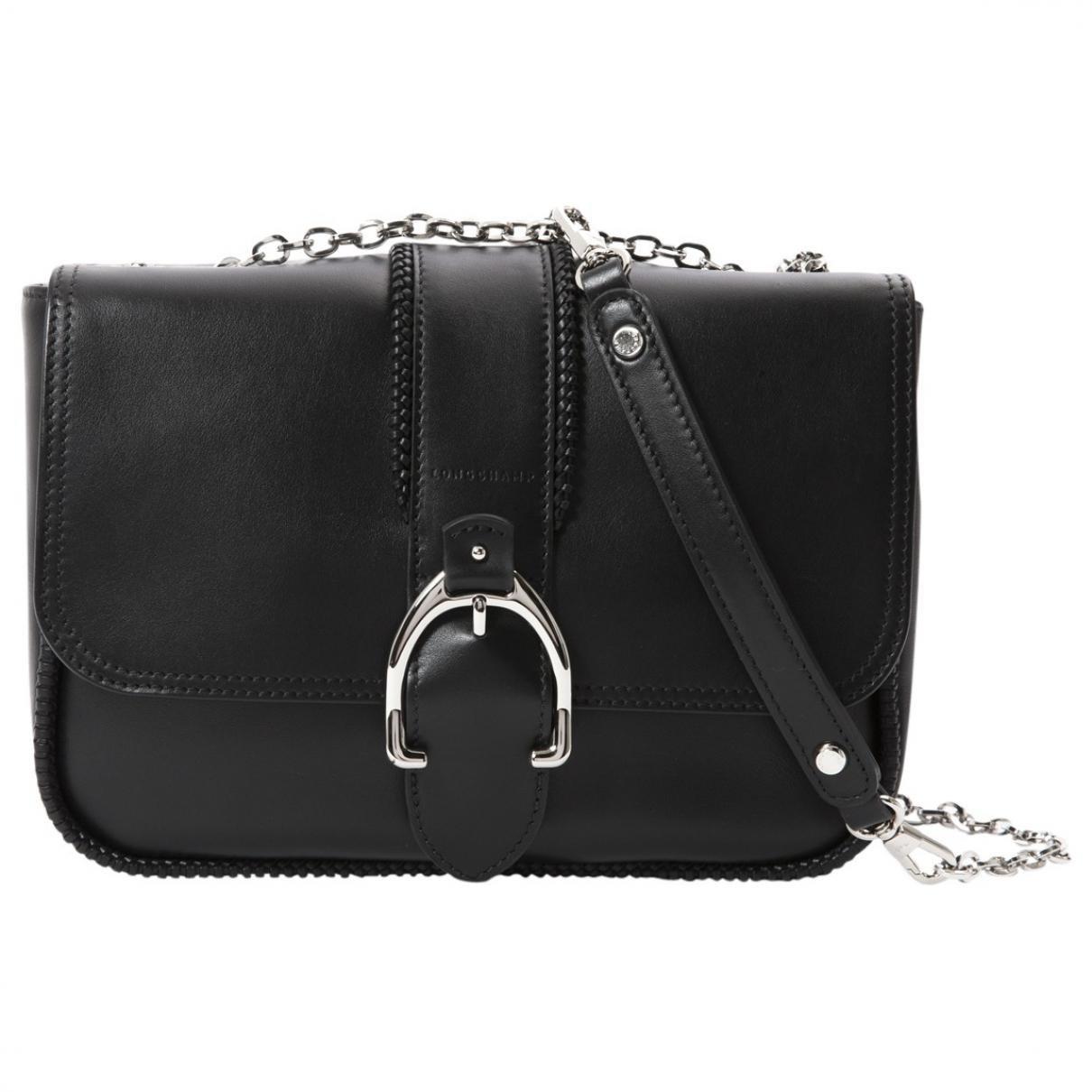 435a28cbb2e Longchamp Balzane Leather Handbag in Black - Lyst