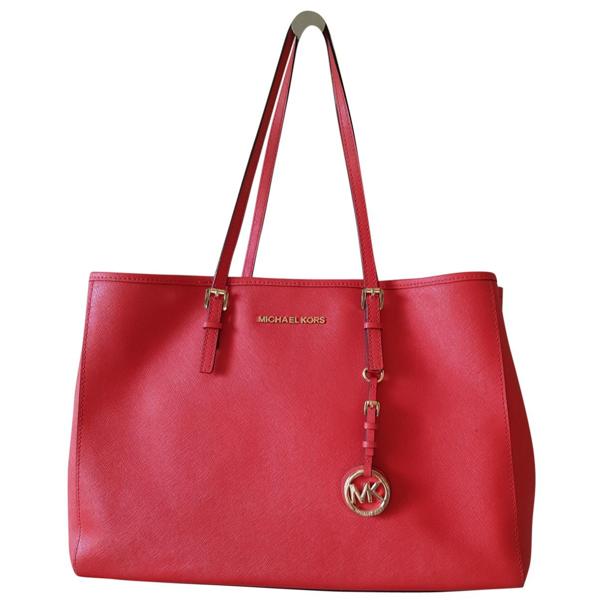 Michael Kors Red Pre Owned Leather Tote Lyst View Fullscreen