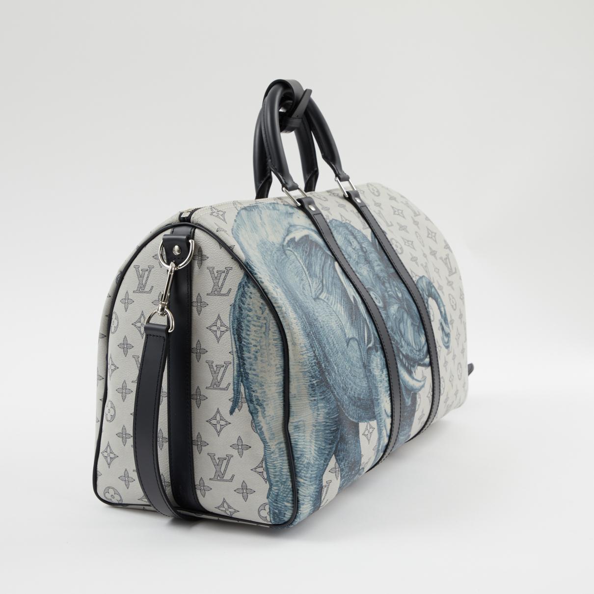 8cb825798717 Louis Vuitton - Pre-owned White Cloth Bags for Men - Lyst. View fullscreen