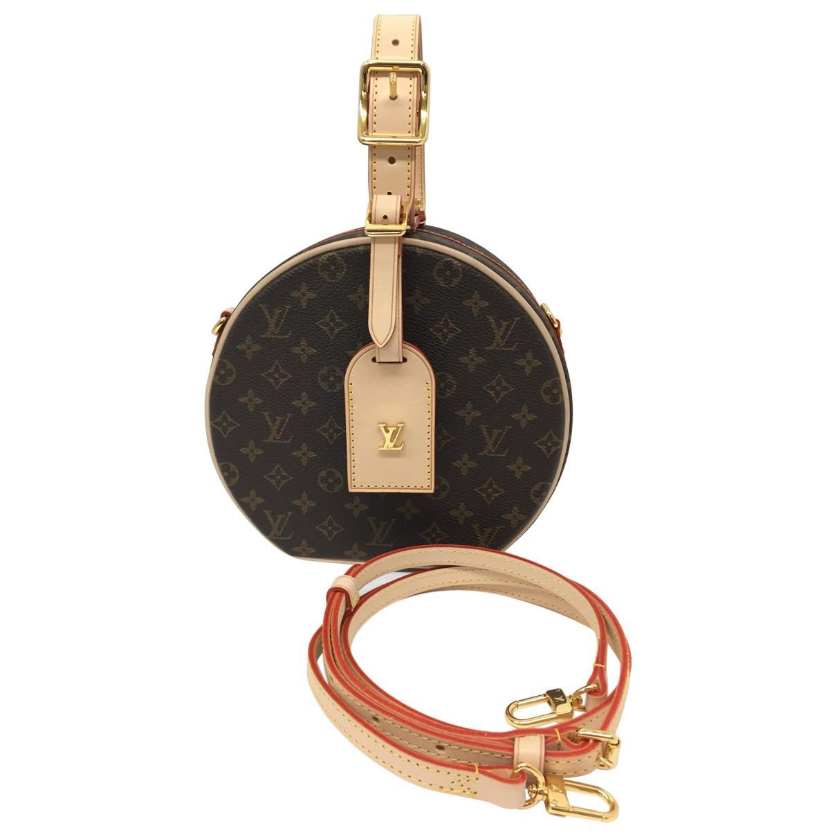 2190a75e8dee Lyst - Louis Vuitton Pre-owned Petite Boîte Chapeau Cloth Handbag in ...
