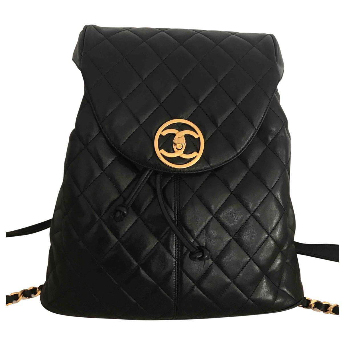 Lyst - Chanel Leather Backpack in Black 071280136246e