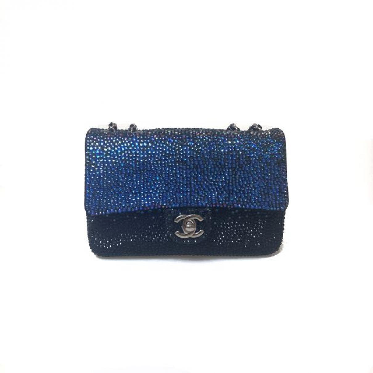 98d922e7df086b Chanel Timeless Glitter Handbag in Blue - Lyst