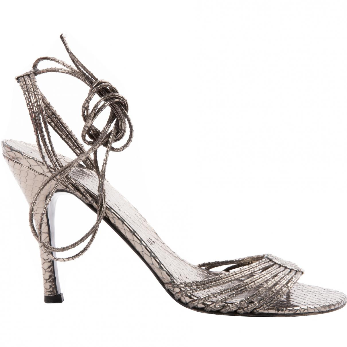 Pre-owned - Leather sandal Stuart Weitzman QP7wH2Hr