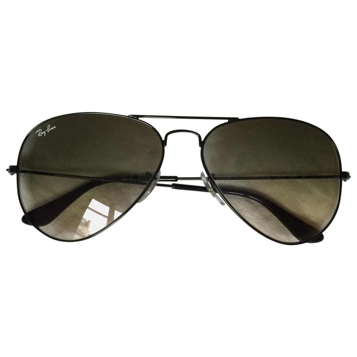 49b961bafa Ray-Ban. Women s Pre-owned Black Metal Sunglasses.  136 From Vestiaire  Collective