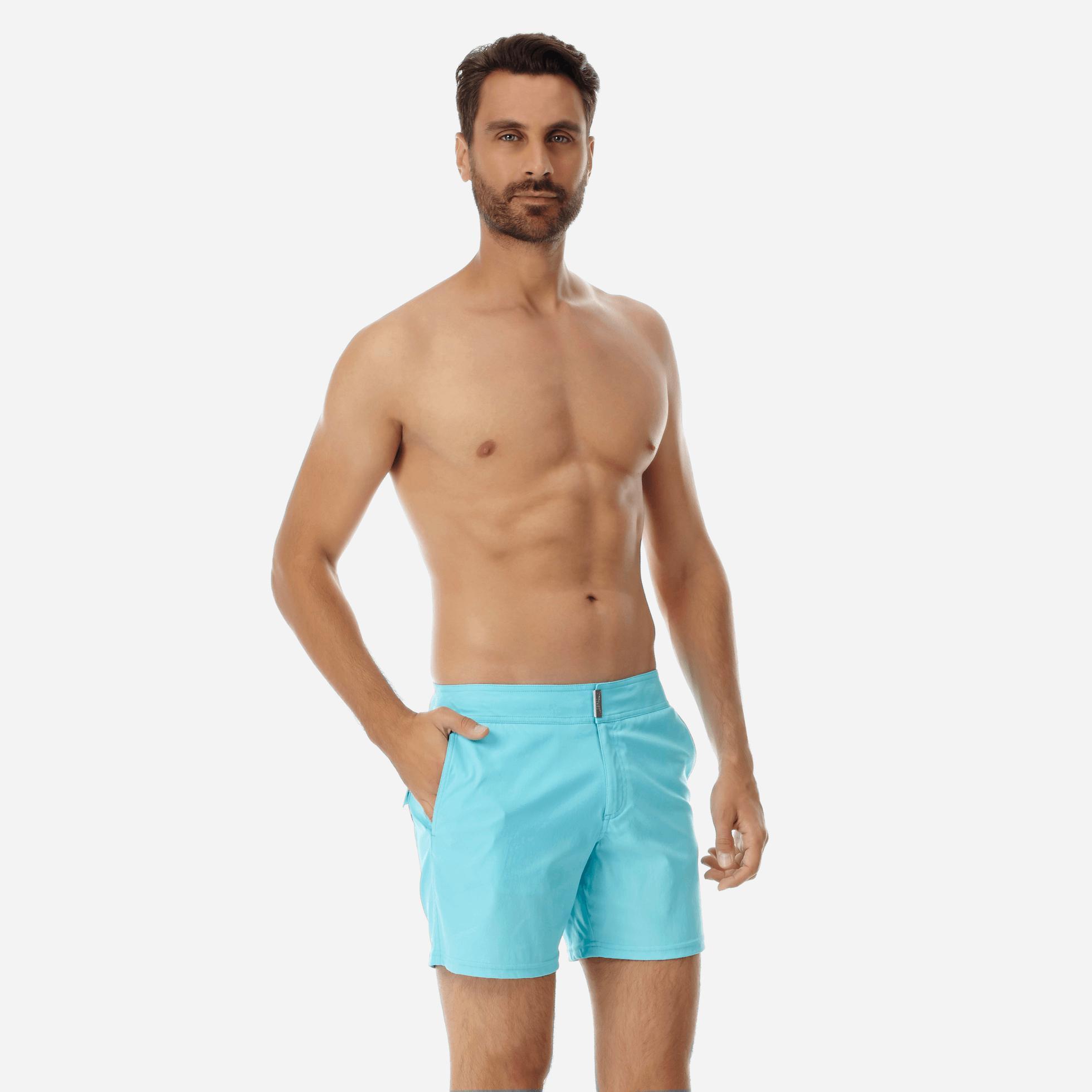 899f4df594 ... Blue Men Flat Belt Stretch Swimwear Solid for Men - Lyst. Visit  Vilebrequin. Tap to visit site