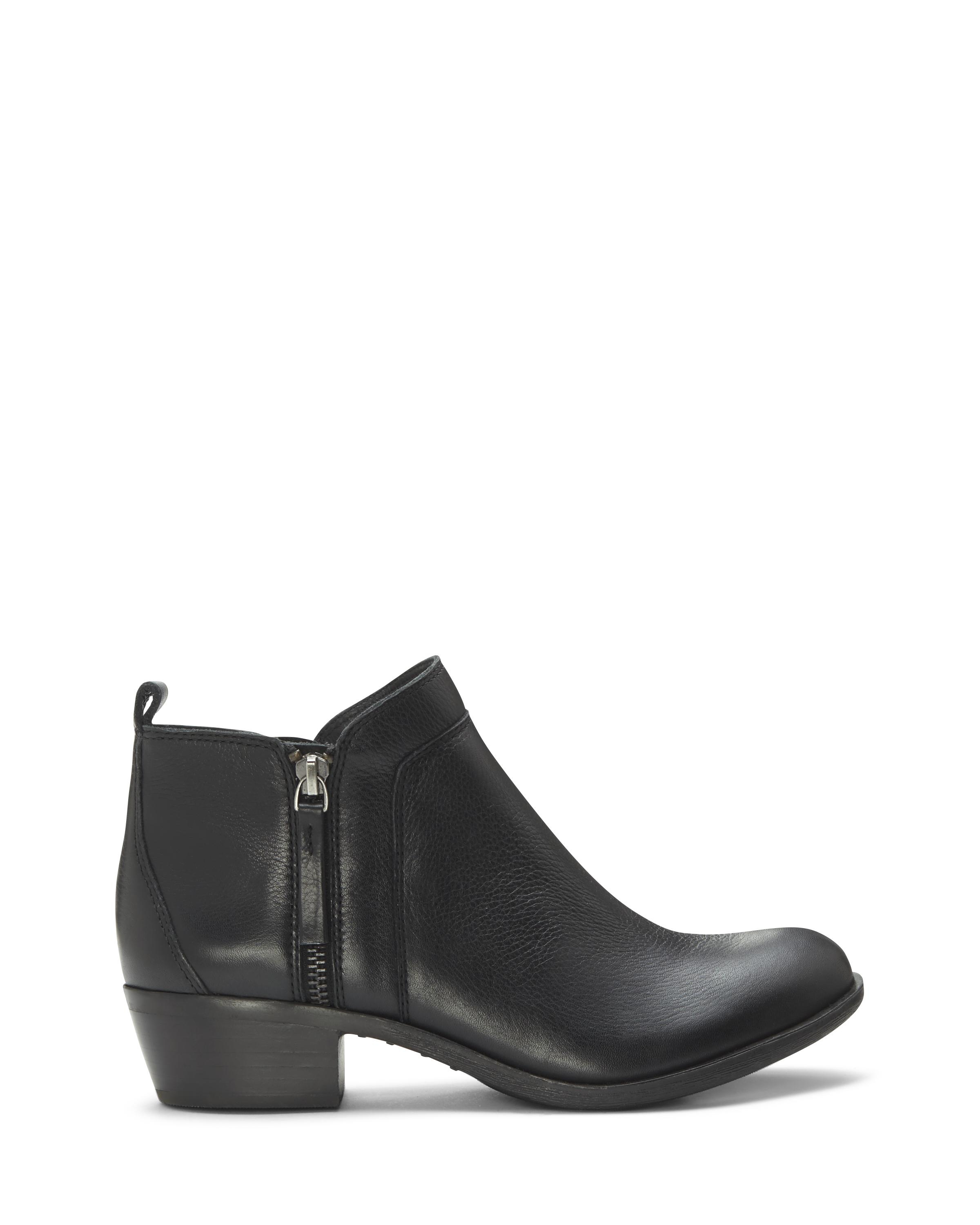 vince camuto brinina leather ankle boots in black lyst