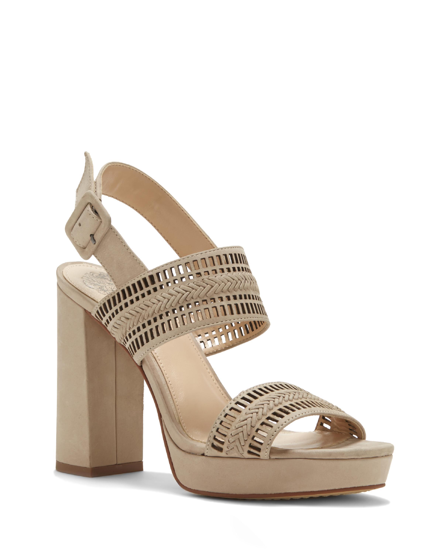 3948118e69d Lyst - Vince Camuto Jazelle – Laser-cut Platform Sandal in Natural