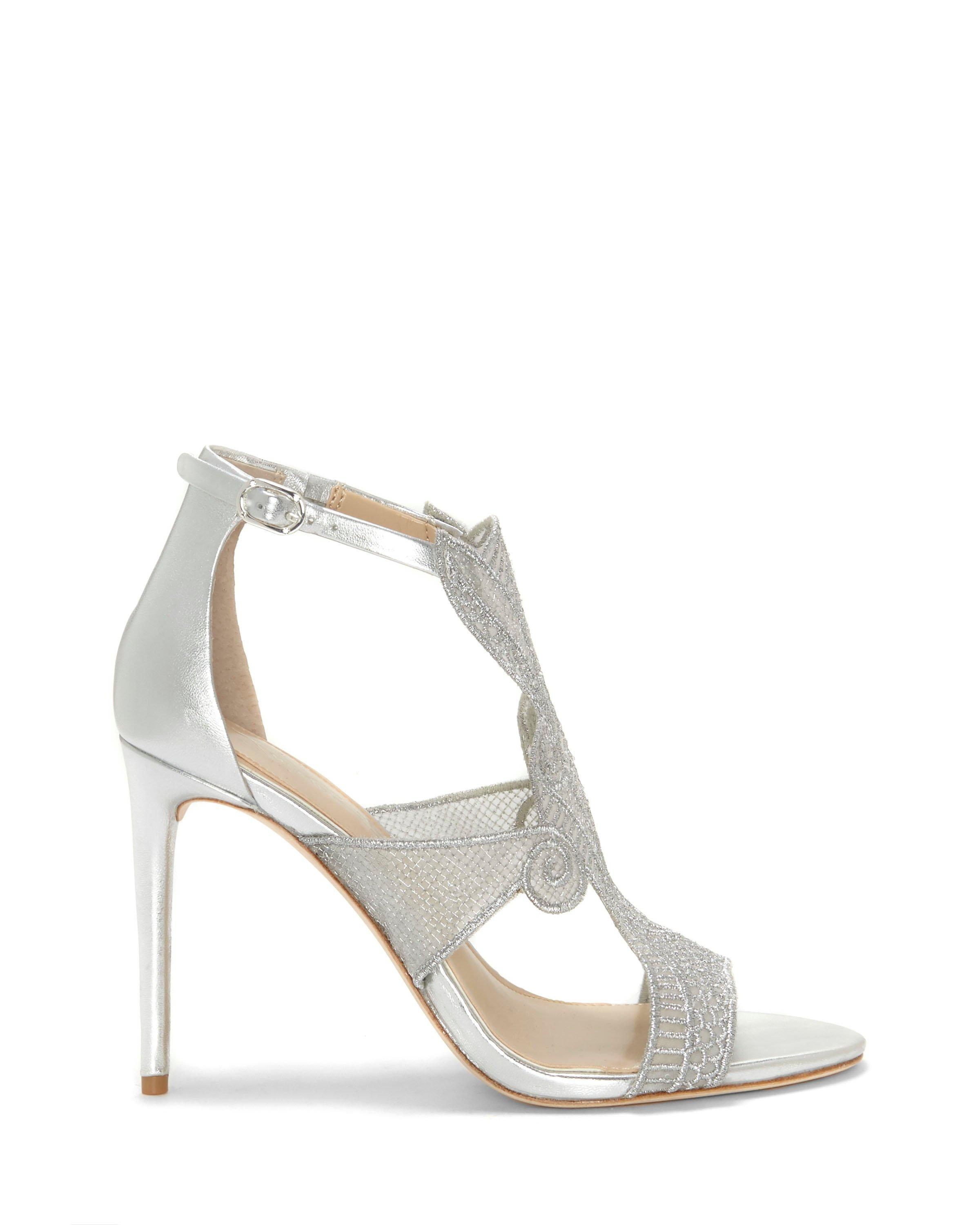 Vince Camuto Imagine by Vince Camuto Rashi Embroidery Silky Mesh Dress Sandals 731Qm