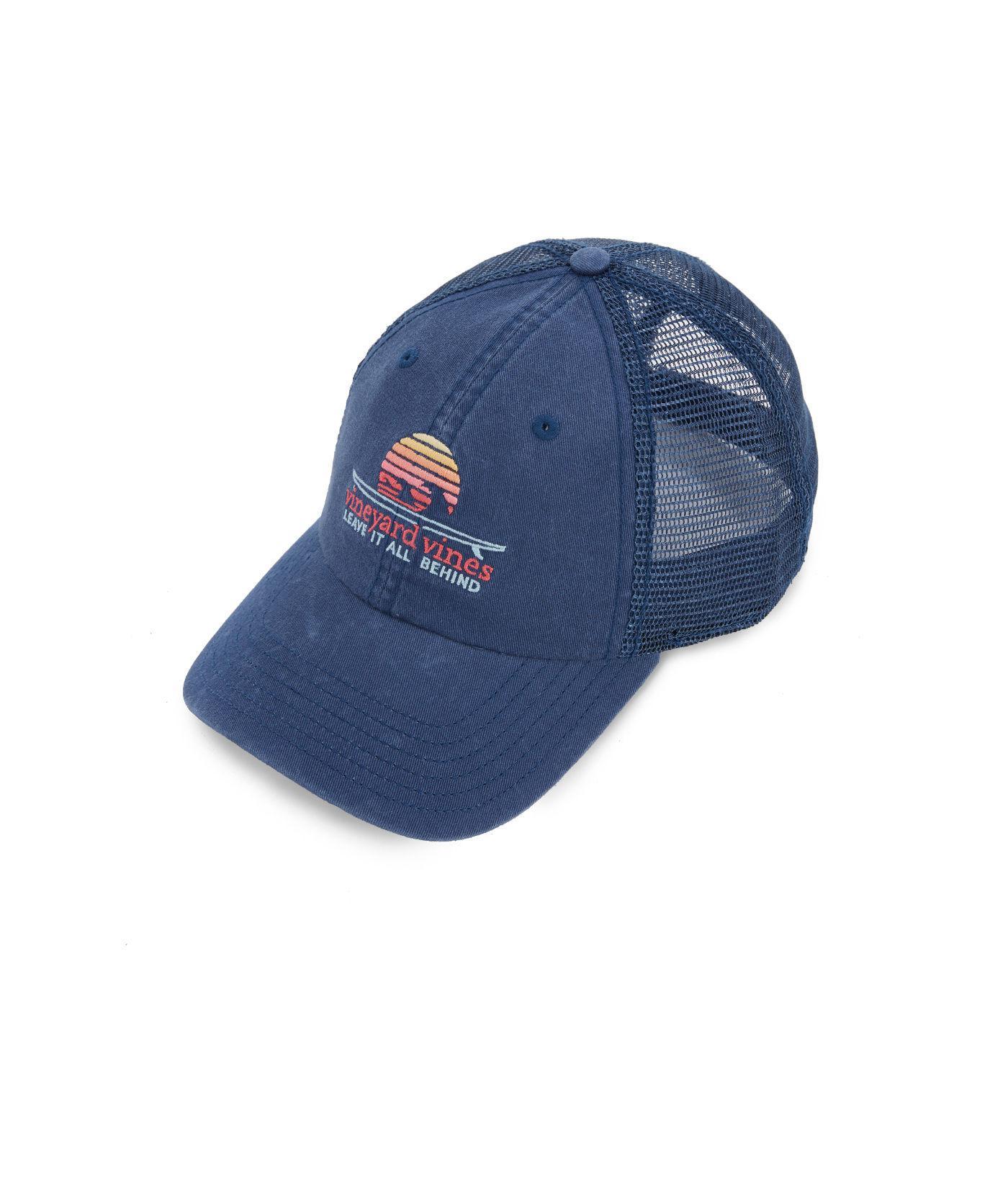 Lyst - Vineyard Vines Sunrise Surf Trucker Hat in Blue for Men beade4cf07c3