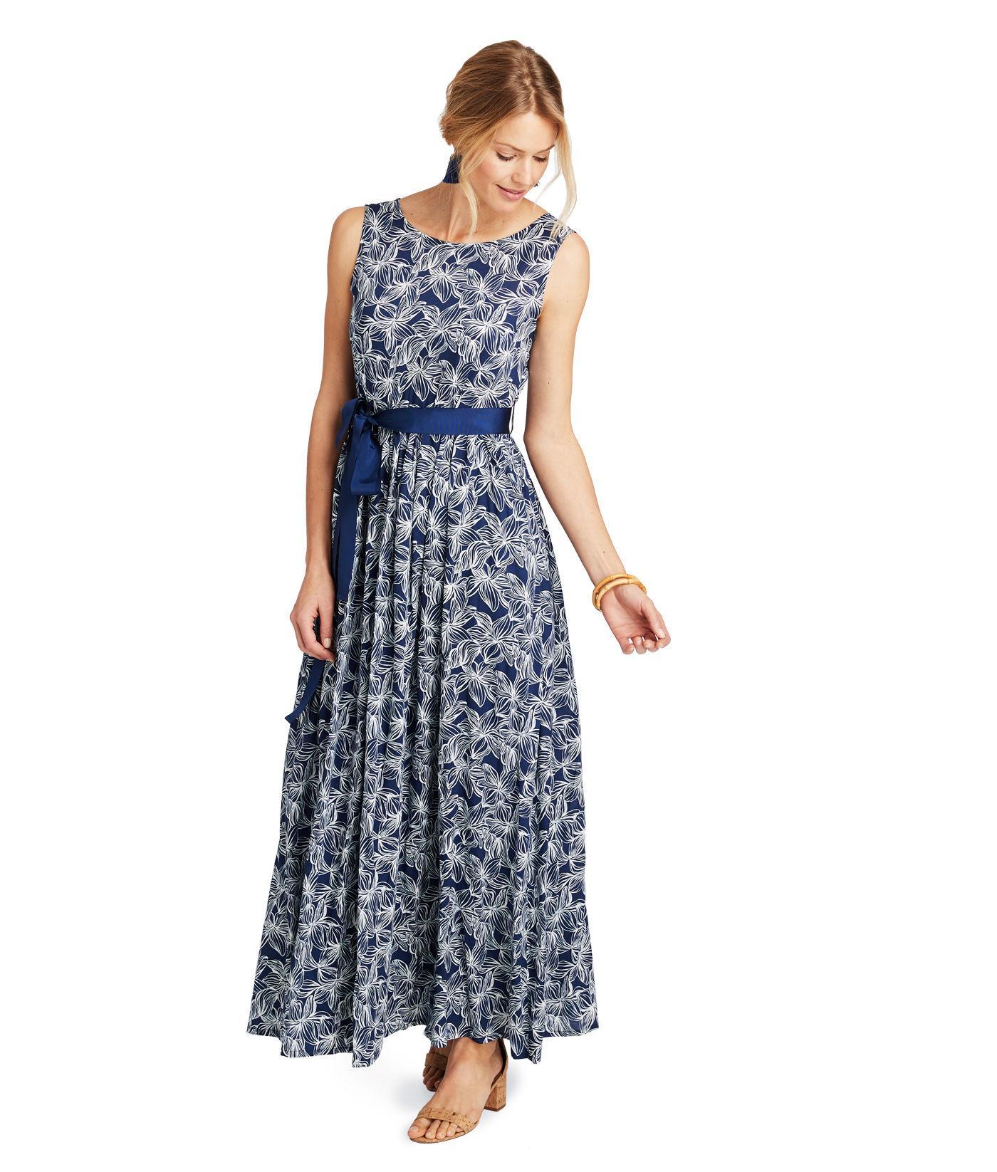 829abf7c7c Vineyard Vines Plumeria Print Maxi Dress in Blue - Save 53% - Lyst