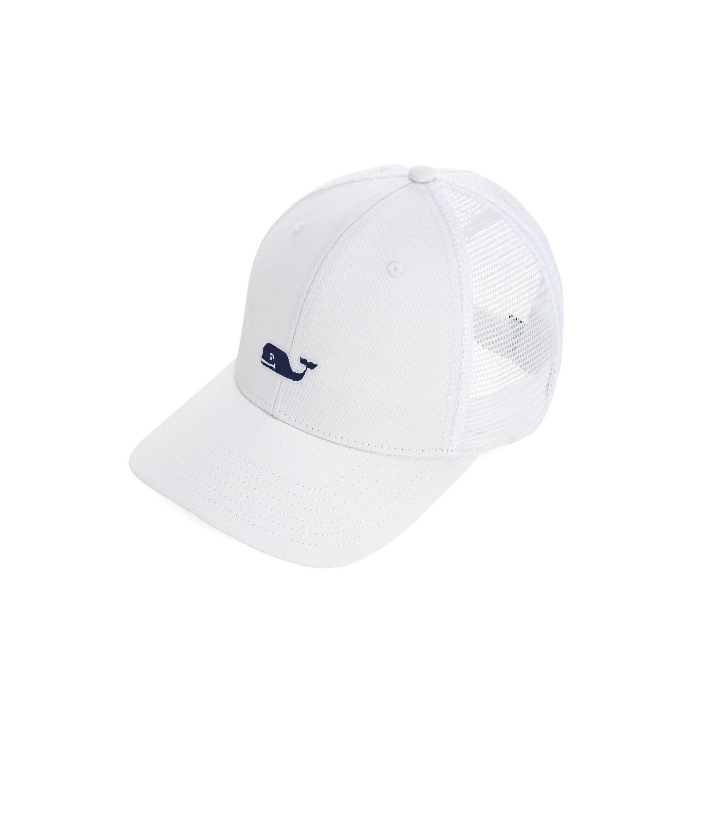 a9060f7c4330c Lyst - Vineyard Vines High Profile Whale Logo Trucker Hat in White ...