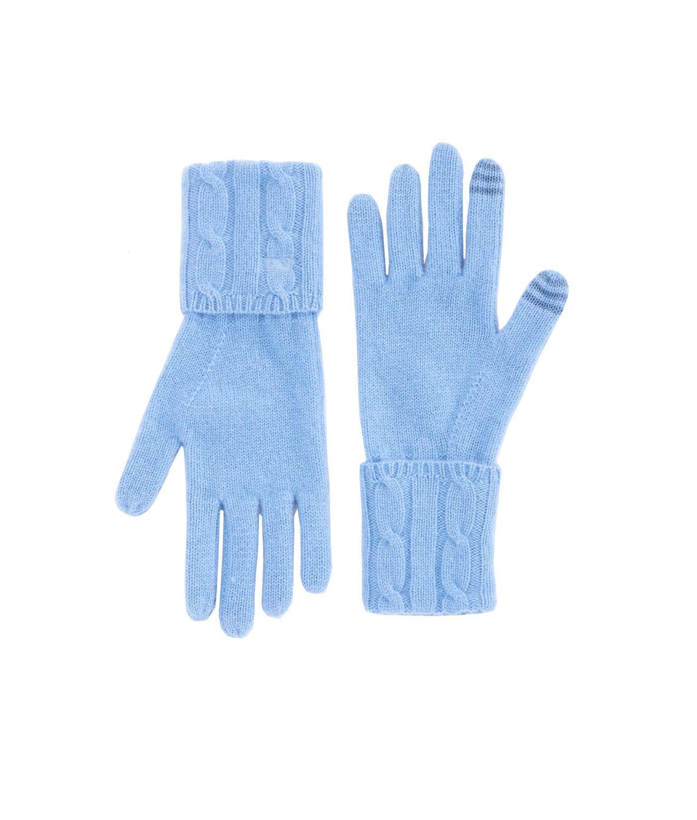 2f189c904 Vineyard Vines Cashmere Coral Lane Knit Texting Gloves in Blue - Lyst
