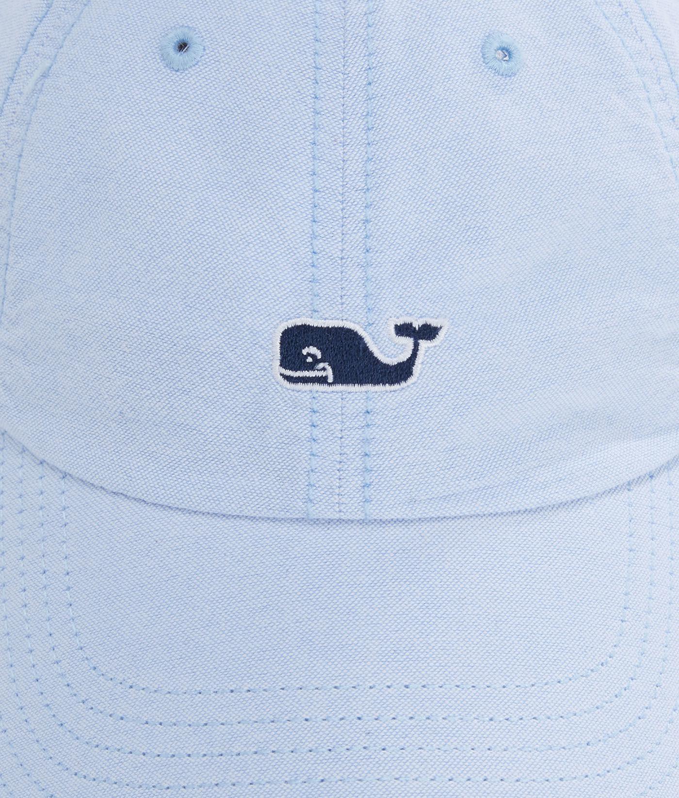 98d5ec15856 Lyst - Vineyard Vines Oxford Whale Logo Leather Strap Baseball Hat ...