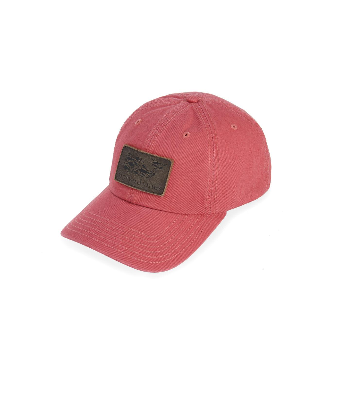 Vineyard Vines - Red Leather Whale Fill Logo Patch Twill Baseball Hat for  Men - Lyst. View fullscreen c7ae1d9fa626