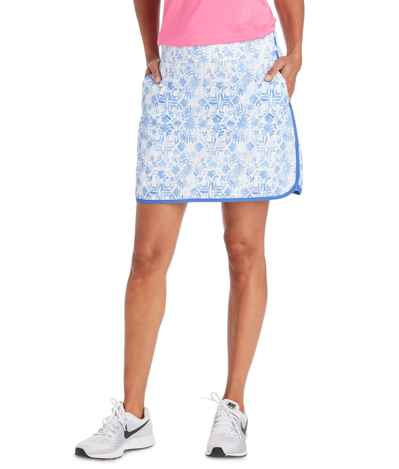 2adc620da2 Lyst - Vineyard Vines 17 Inch Tile Otomi Woven Golf Skort in Blue