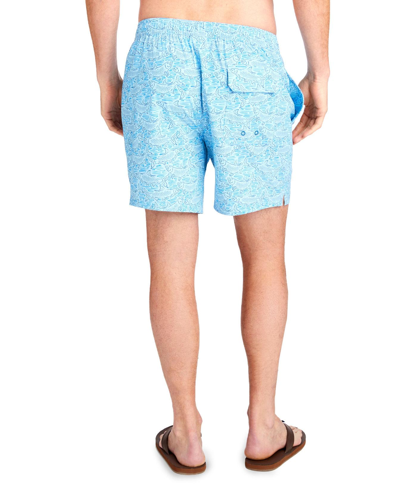 613f62466a Lyst - Vineyard Vines Tarpon Sketch Chappy Trunks in Blue for Men