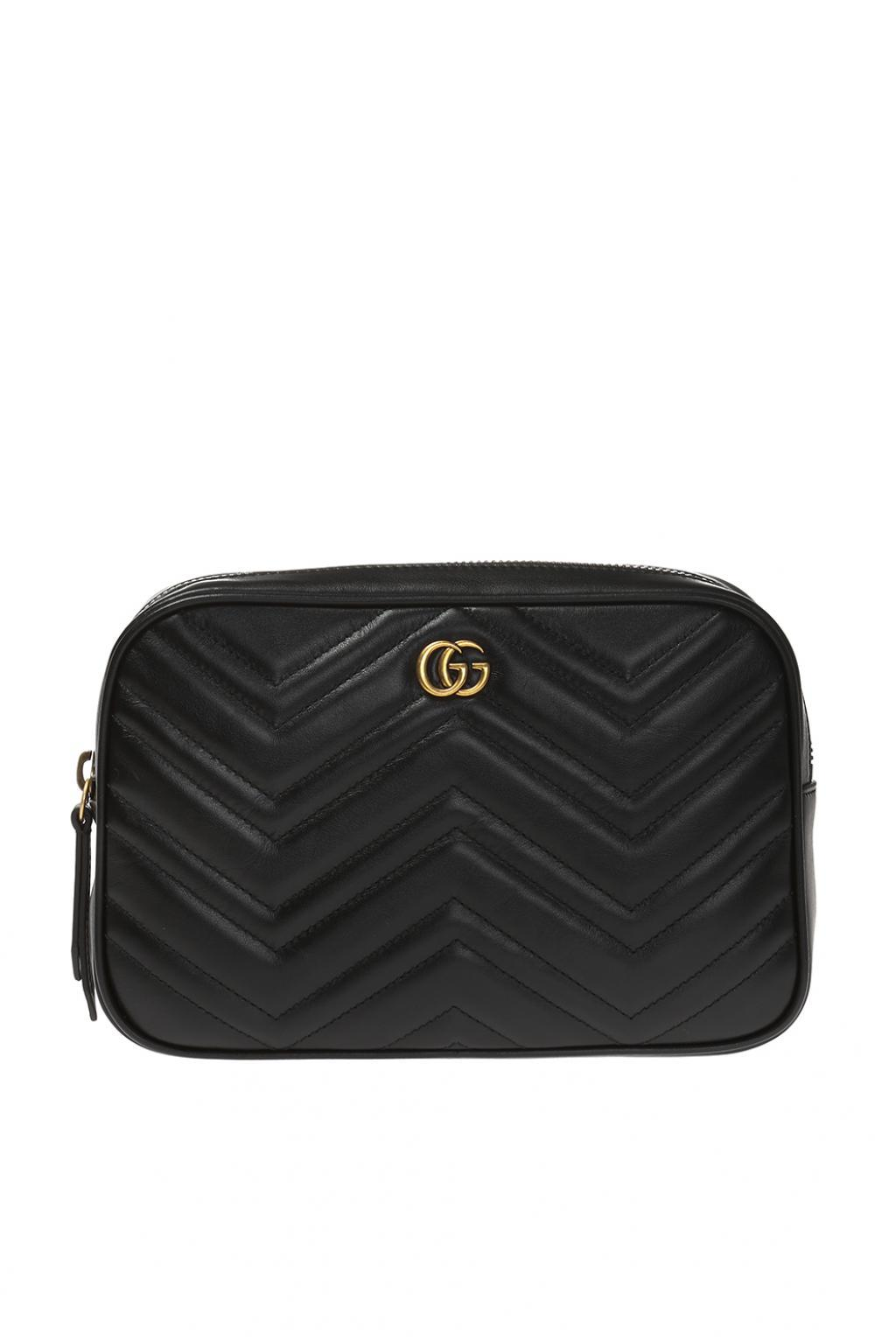 99b9d4b9b83b Gucci 'GG Marmont' Belt Bag With Logo in Black for Men - Lyst