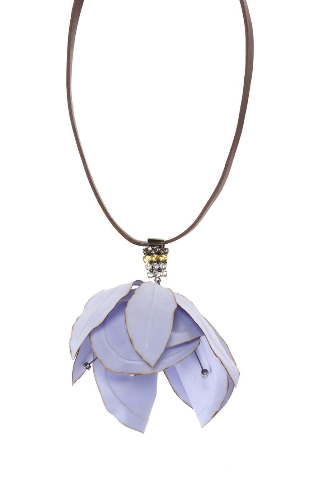 Marni flower pendant necklace - Brown KM6qvo