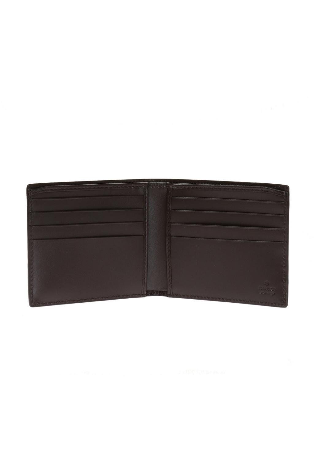 278807af4123 Gucci - Brown Leather Bi-fold Wallet for Men - Lyst. View fullscreen