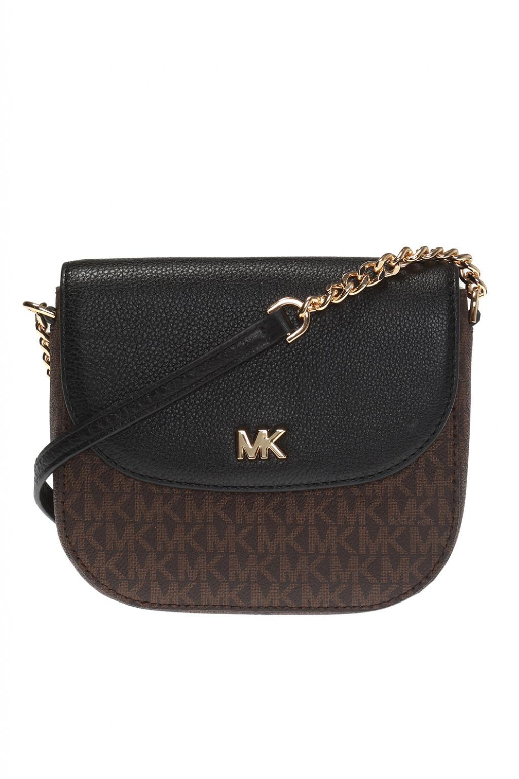 michael kors shoulder bag with logo pattern lyst rh lyst co uk