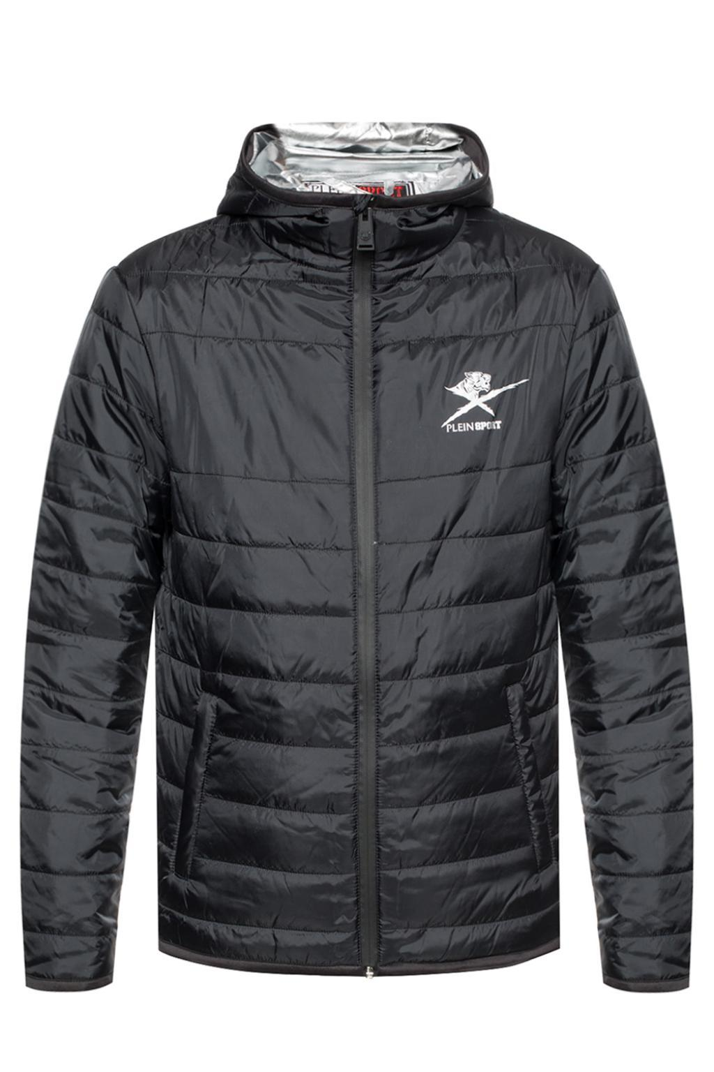 8214e2603bb Lyst - Philipp Plein Quilted Jacket With Logo in Black for Men