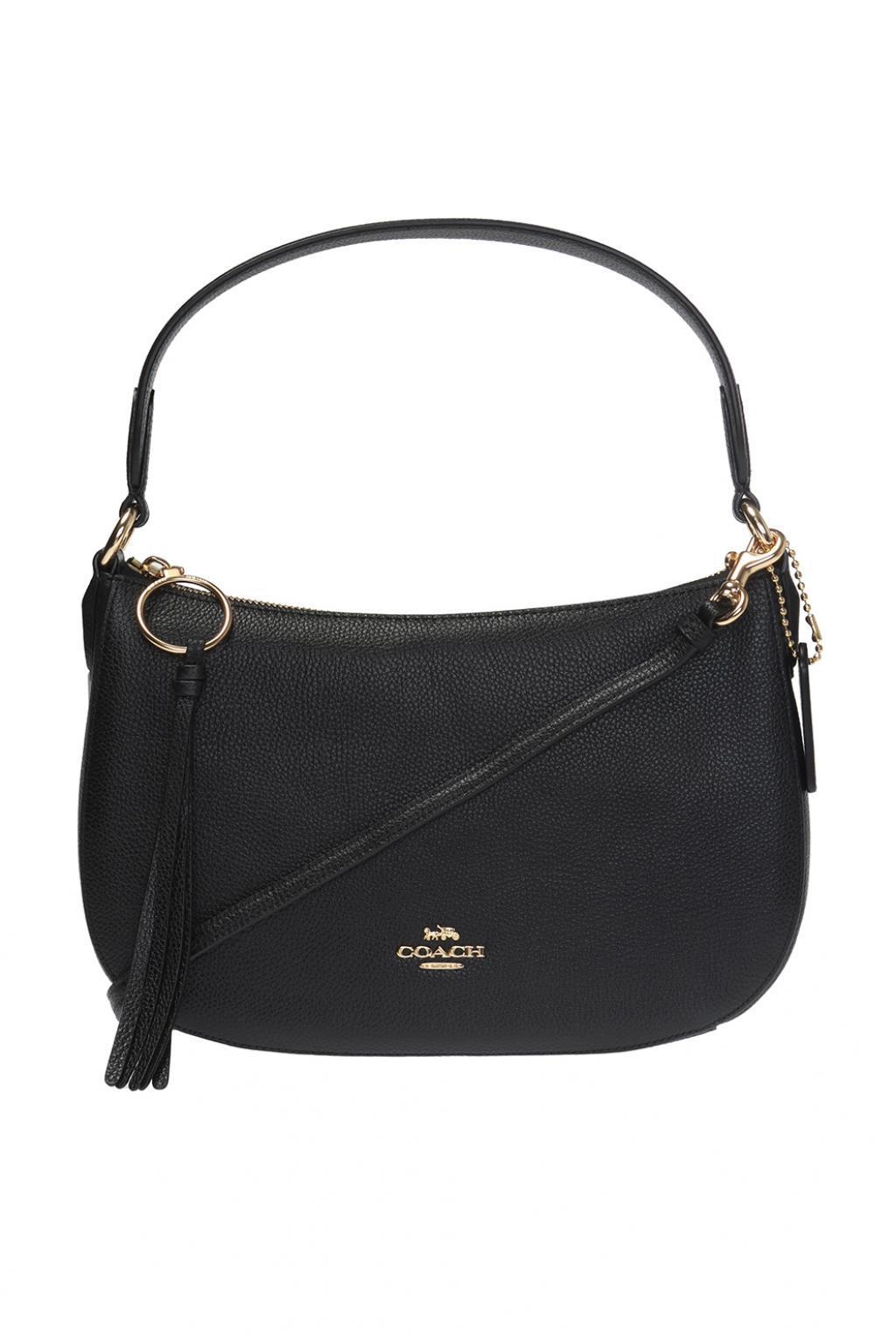 42b36d62e21263 COACH 'sutton' Shoulder Bag in Black - Lyst
