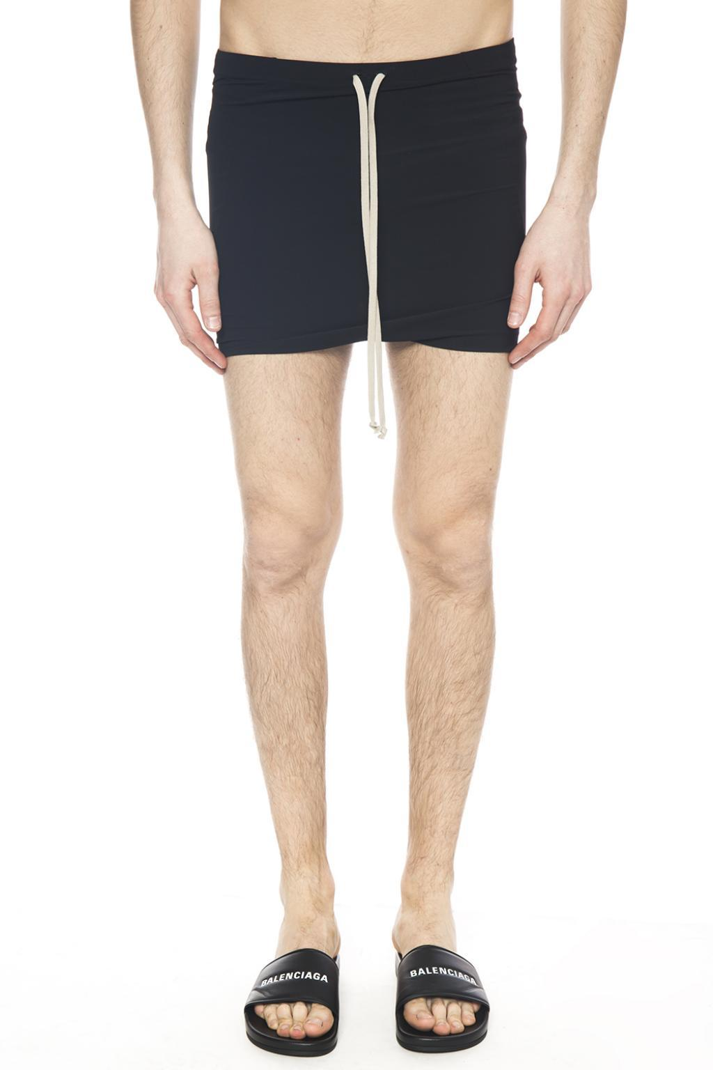 3461e5c4cb Rick Owens Dropped Crotch Swimming Shorts in Black for Men - Lyst