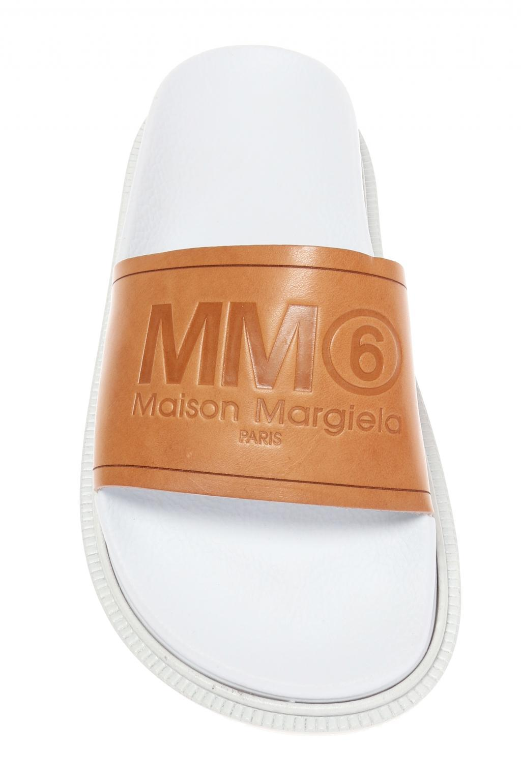 MM6 MAISON MARGIELA Embossed logo slides