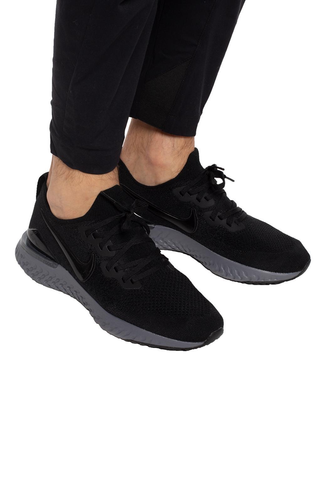 2ea8f7eadc5 Nike - Black  epic React Flytknit 2  Sneakers for Men - Lyst. View  fullscreen