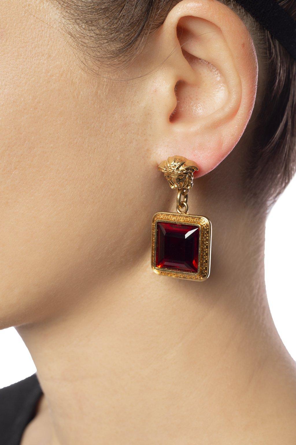 806fbbcb9 Versace - Red Medusa Head Earrings - Lyst. View fullscreen