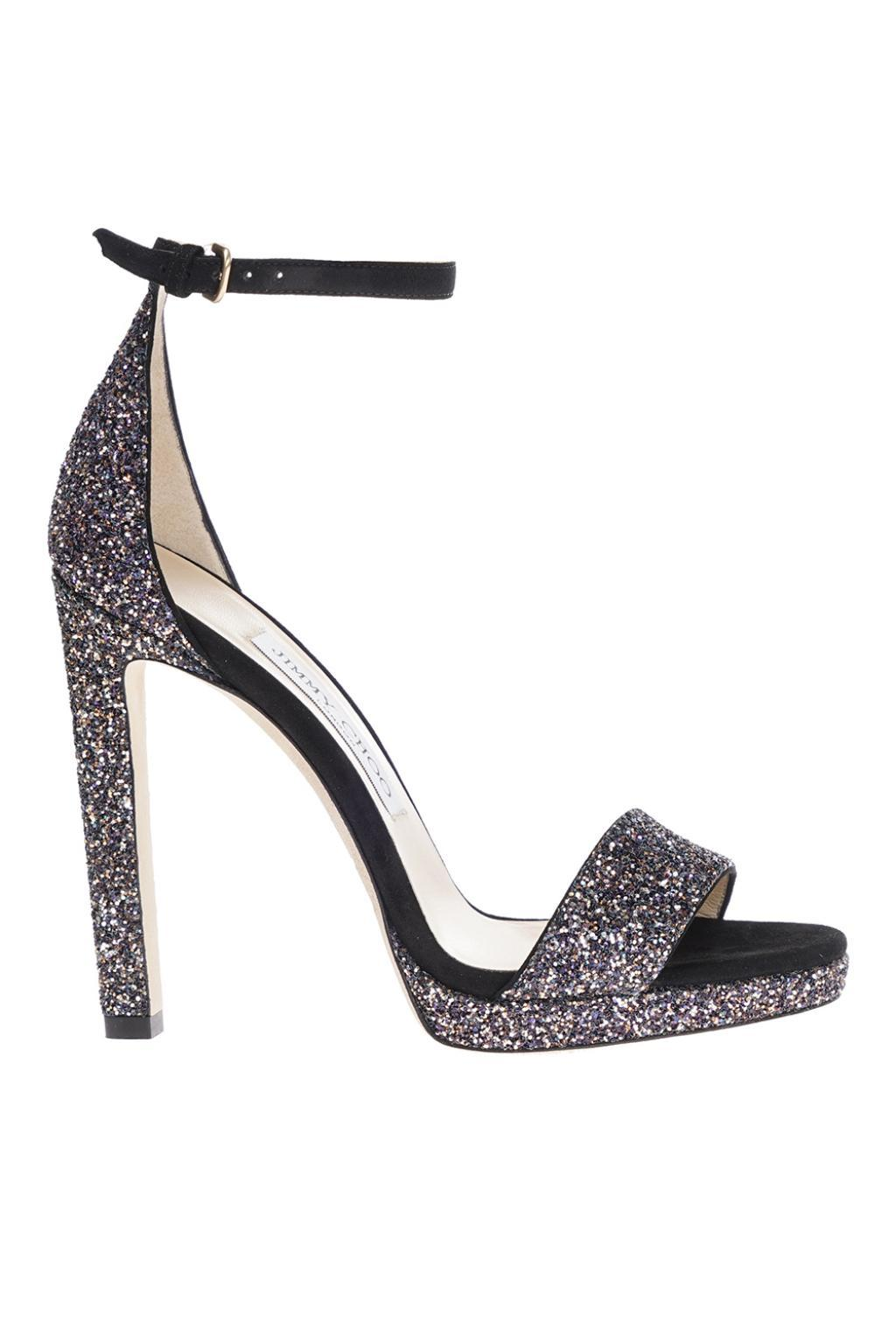 05c694314a5 Lyst - Jimmy Choo  misty 120  Stiletto Sandals in Black