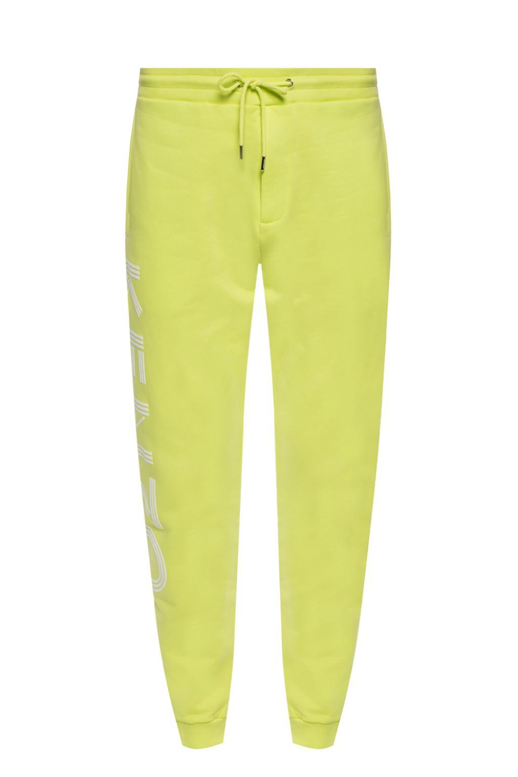 789c08ce2b22 Lyst - KENZO Branded Sweatpants in Yellow for Men