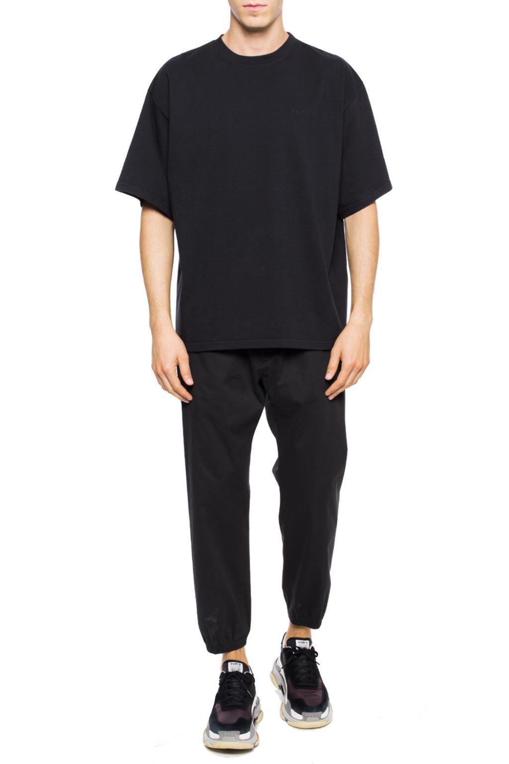 f5101c34 Balenciaga - Black Oversize' T-shirt for Men - Lyst. View fullscreen