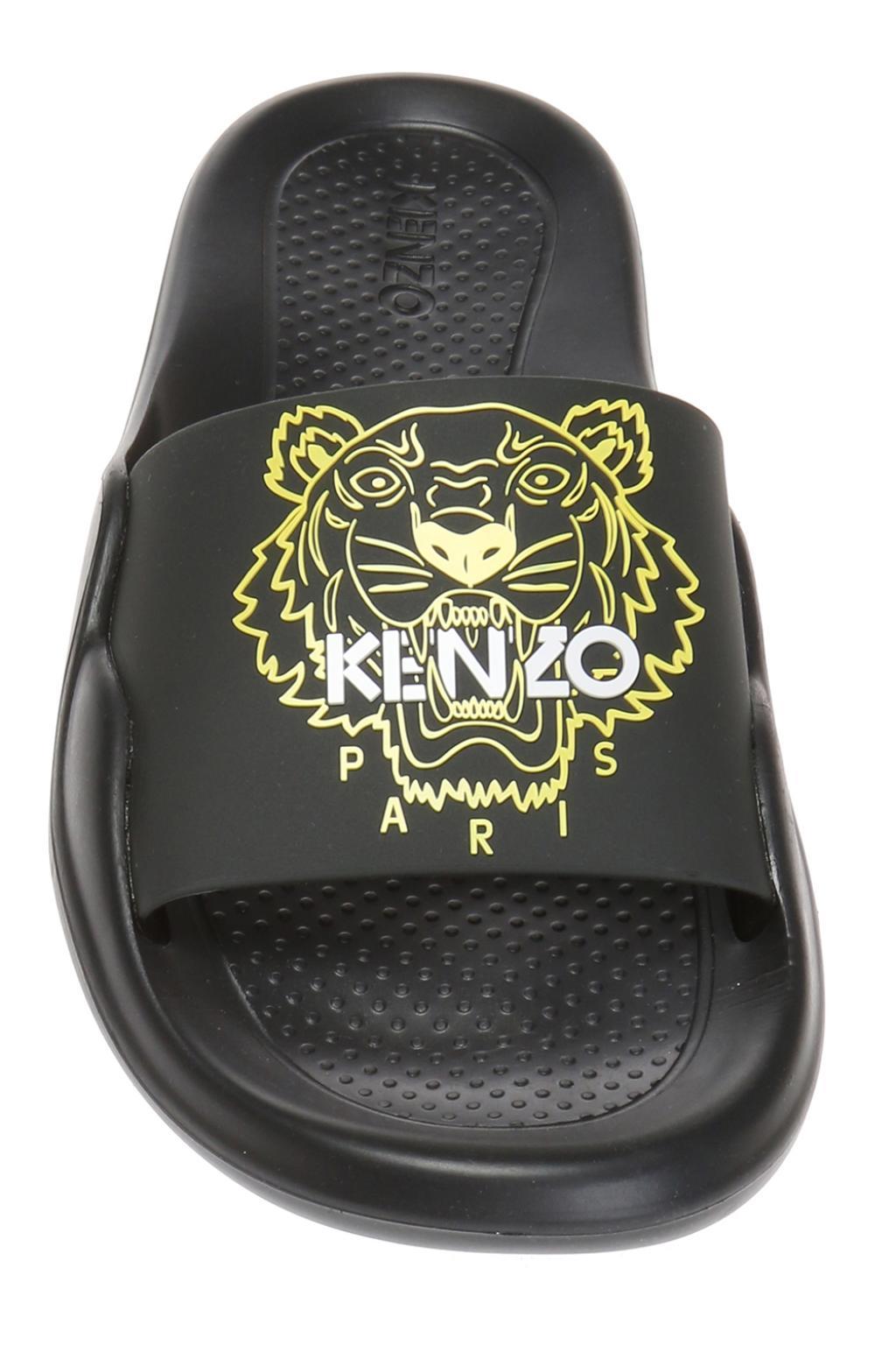 12a1bbffa KENZO - Black Tiger Head Slides - Lyst. View fullscreen