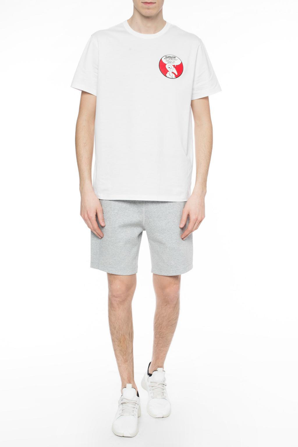a1bdd3227a9b Moncler Sweat Shorts With Logo in Gray for Men - Lyst