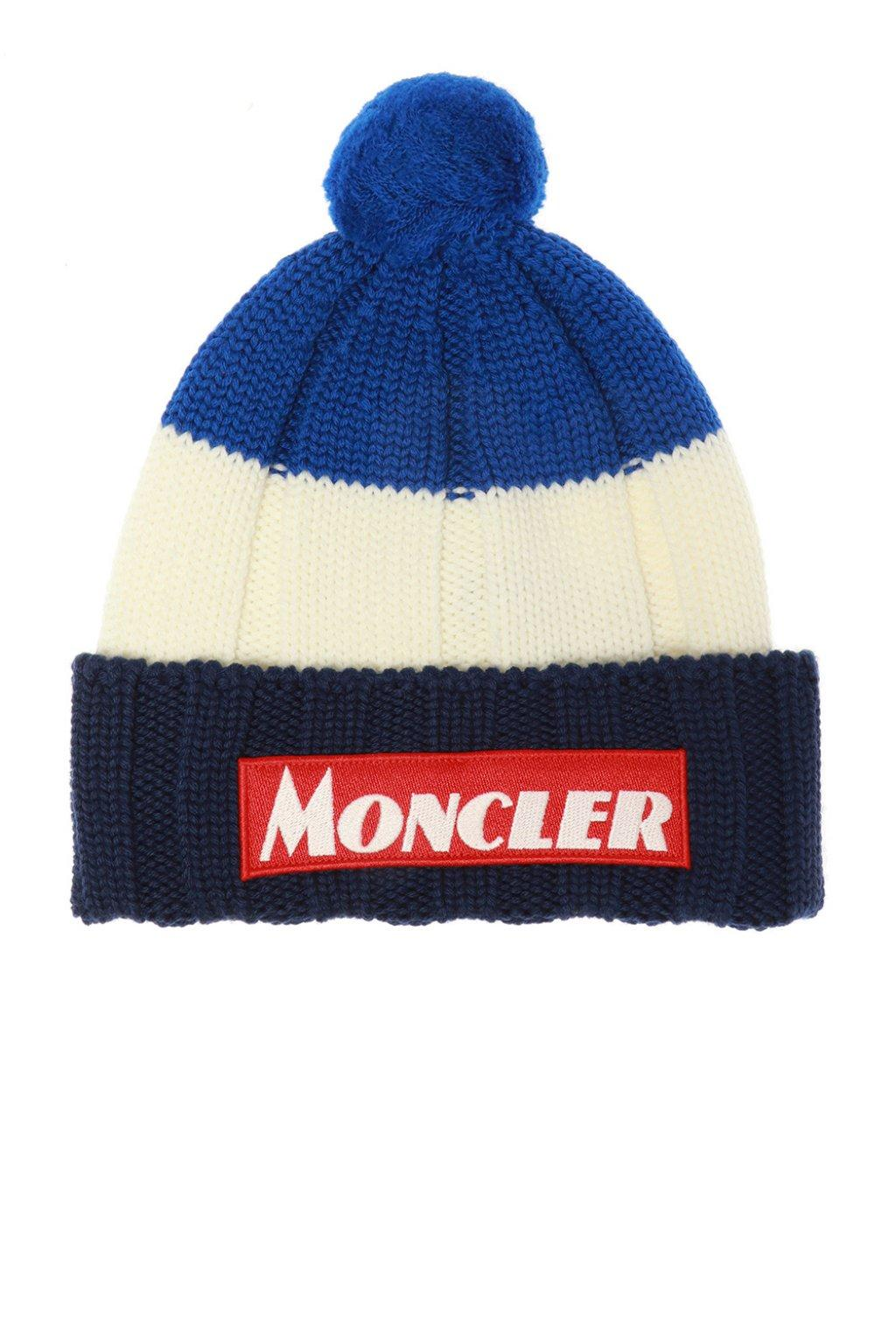 37f1d326e Moncler Pompom Hat in Blue for Men - Save 19% - Lyst