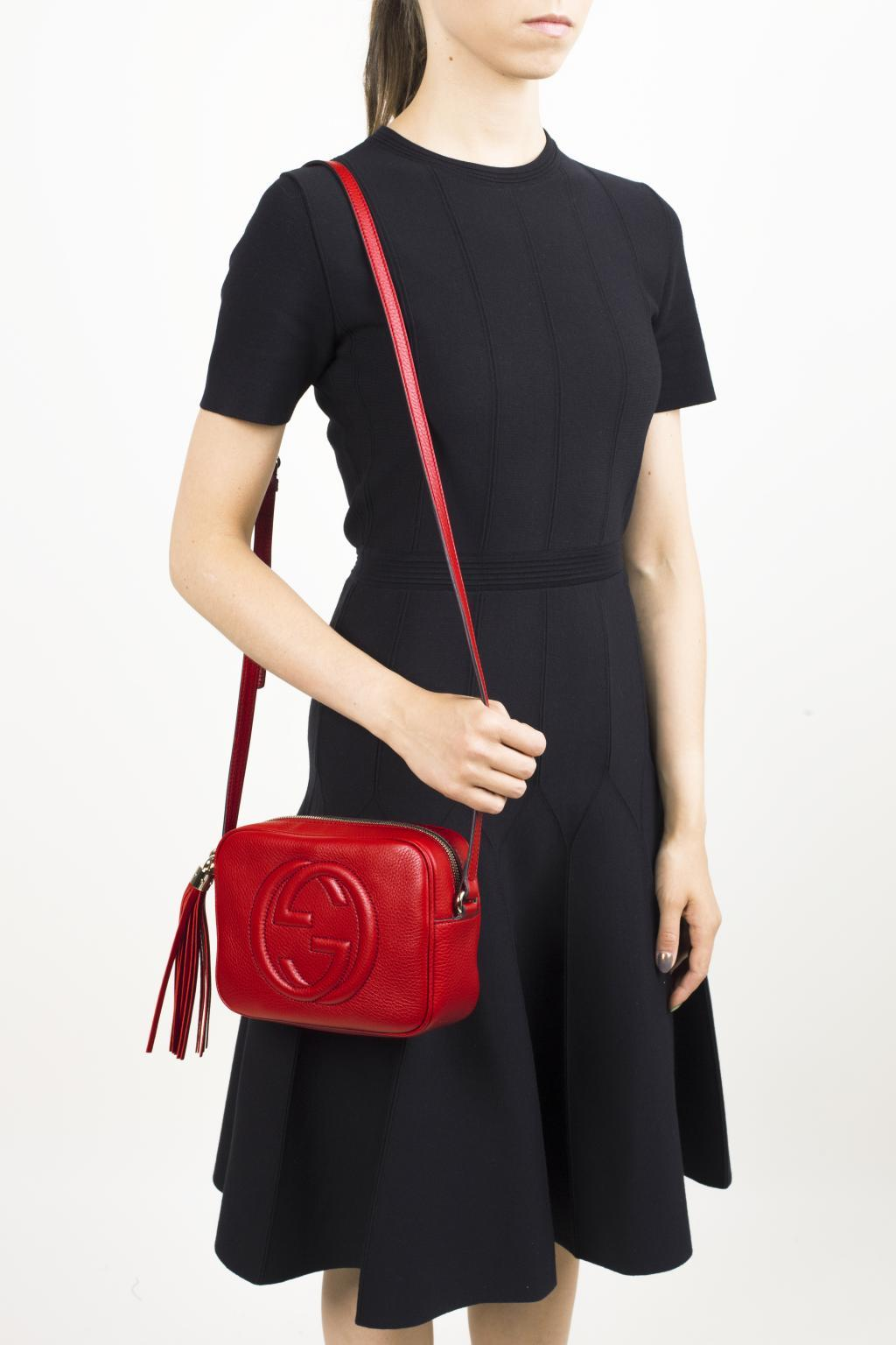 8700b270073 Gucci - Red  soho Disco  Crossbody Bag - Lyst. View fullscreen
