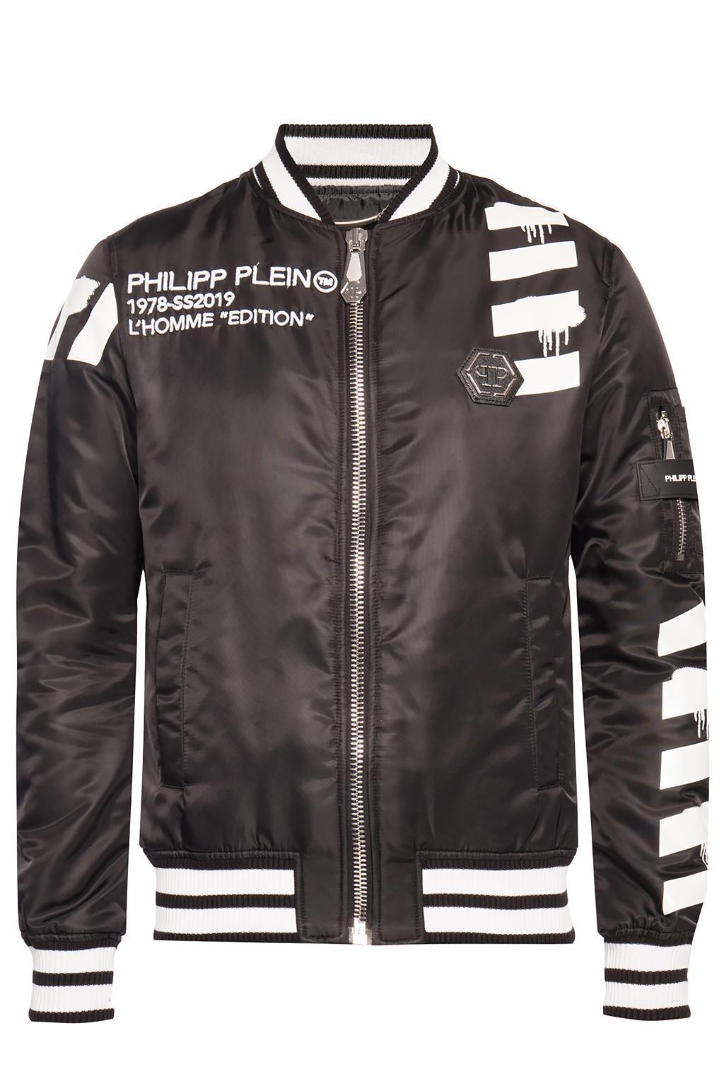 b56ed1f4e08 Philipp Plein Bomber Jacket in Black for Men - Lyst