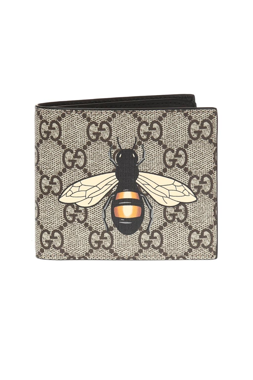 361e618ade562d Gucci Wallet With Bee Motif in Brown for Men - Lyst