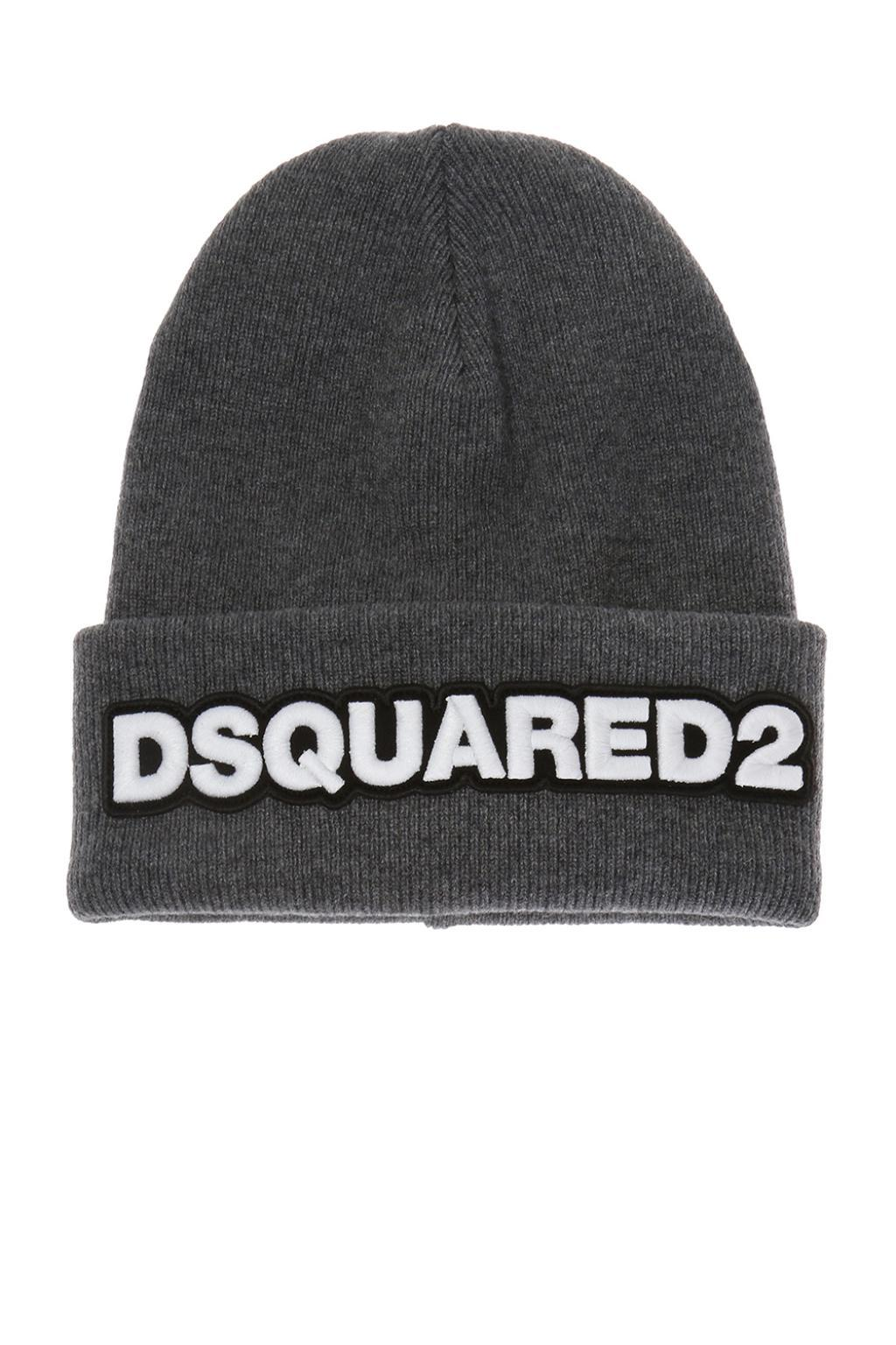 Lyst - DSquared² Logo Hat in Gray for Men - Save 26.285714285714292% 6d18634cd2e9