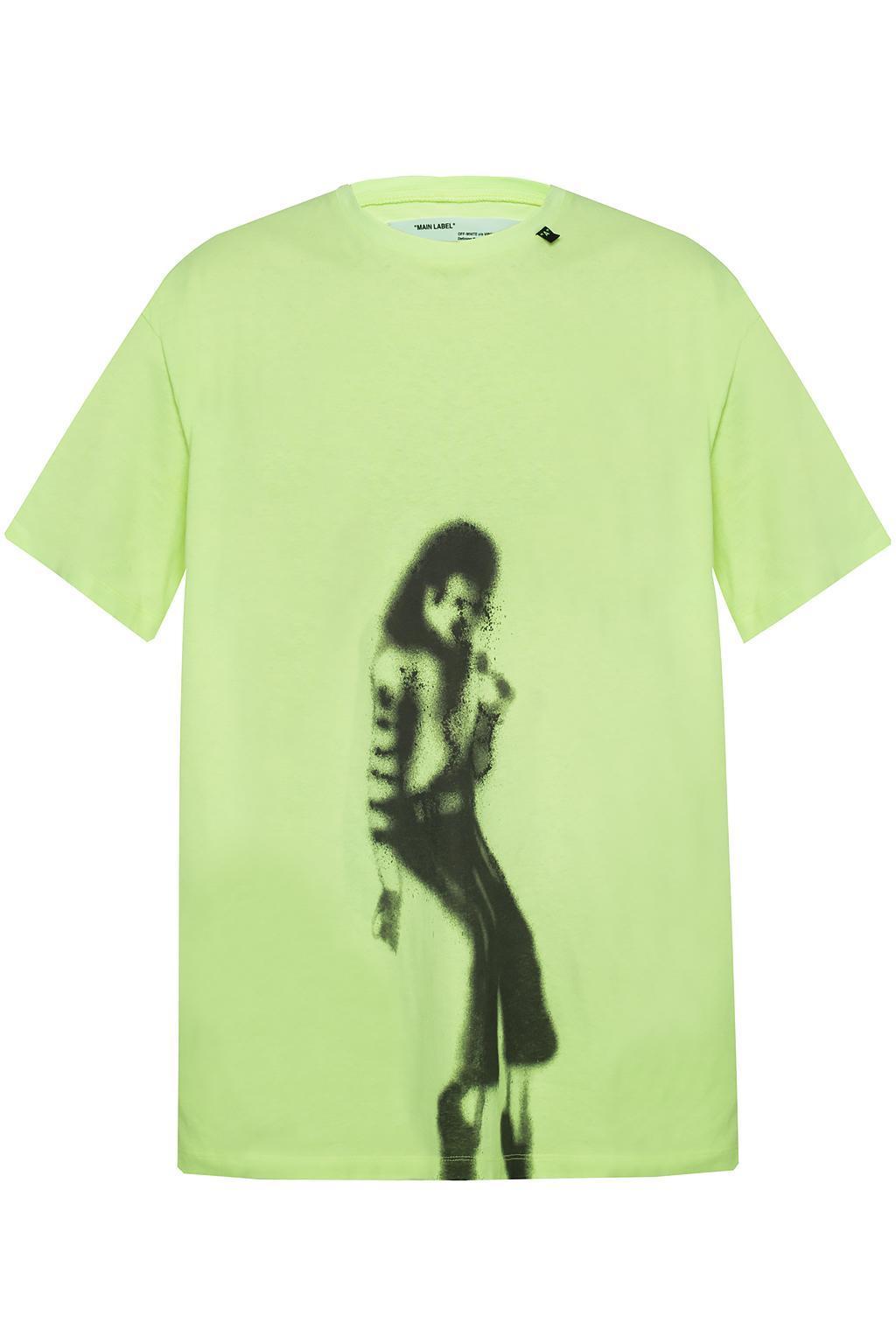 22b3e1b95eb9 Lyst - Off-White c o Virgil Abloh Printed T-shirt in Green for Men