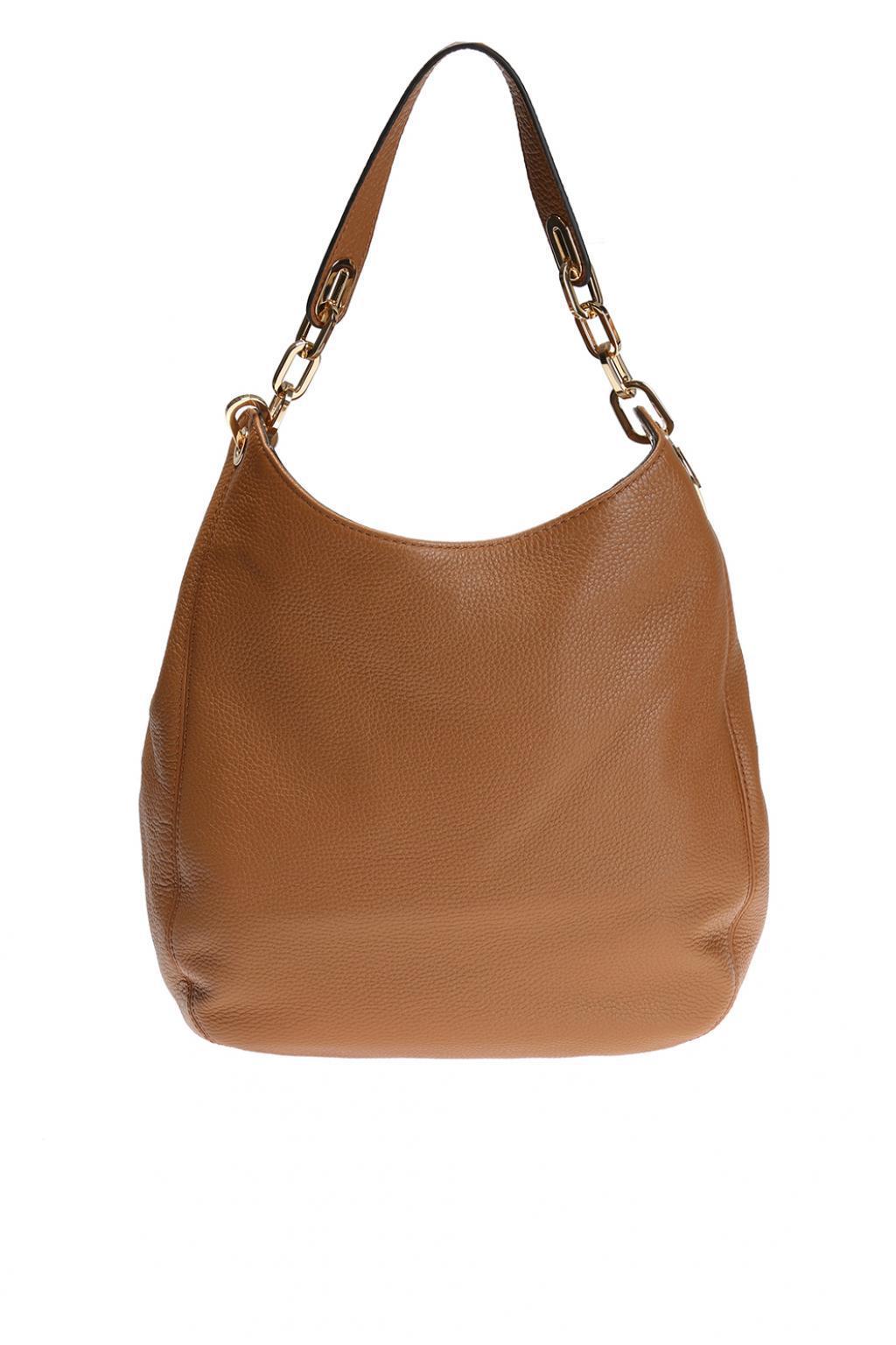 31ec18bb82a1 ... order michael kors brown fulton shoulder bag lyst. view fullscreen  950bc e3c77 ...