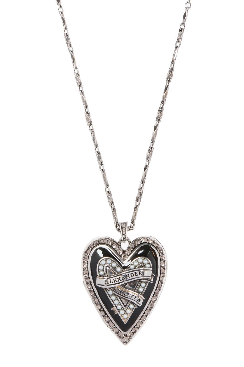 heart locker pendant necklace - Metallic Alexander McQueen QQF4W