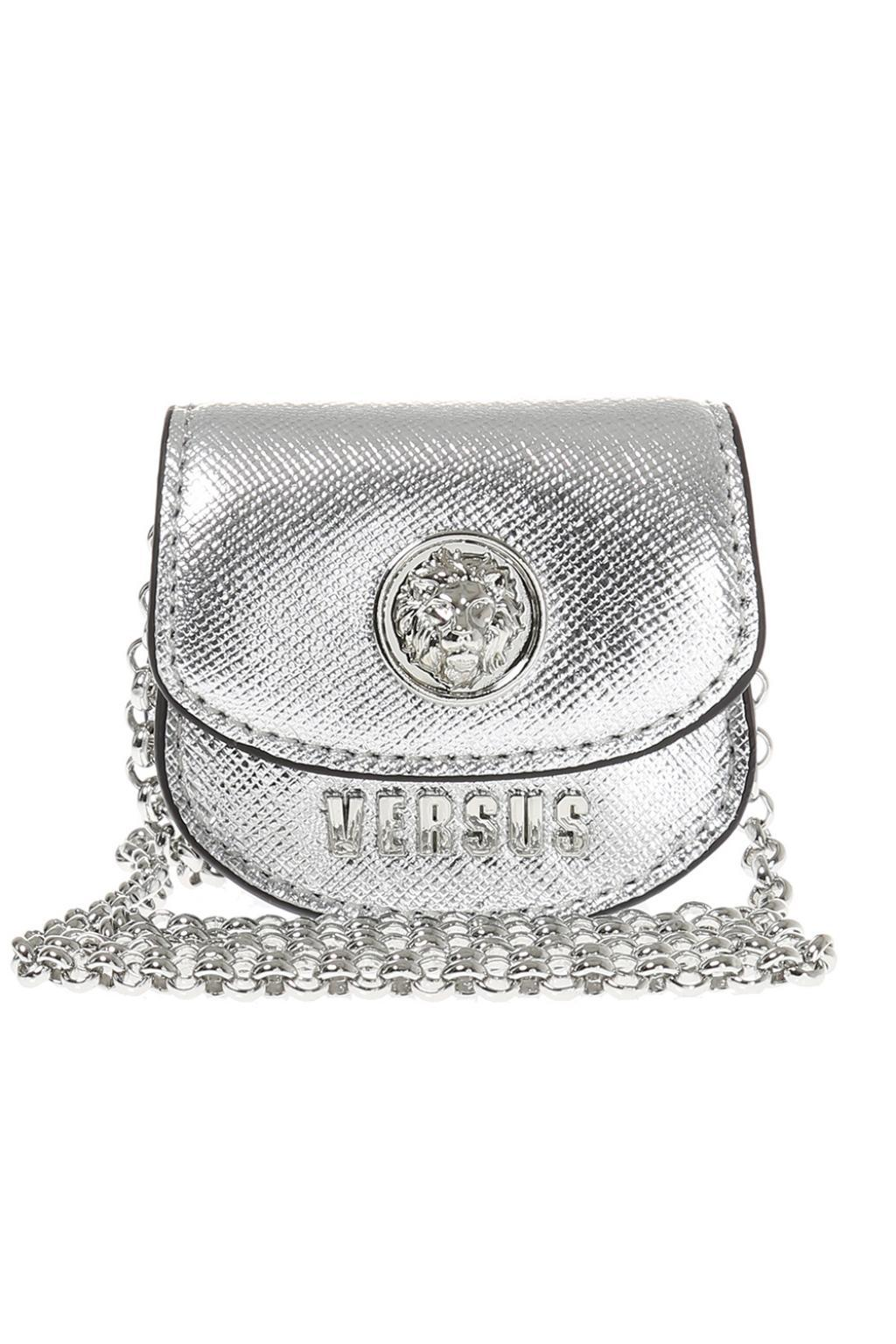 b9a94056090 Versace Bag Charm Necklace in Metallic - Lyst